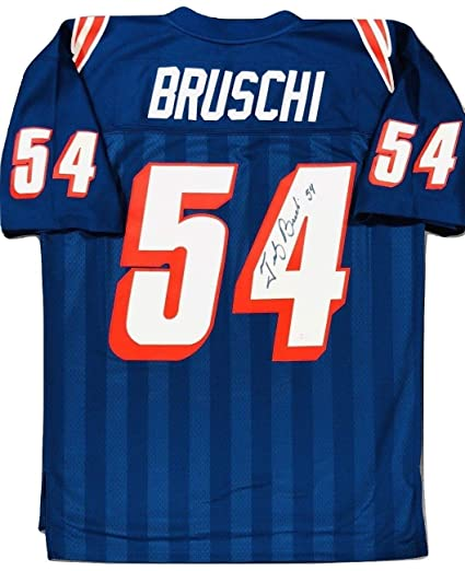 8871e795b Tedy Bruschi New England Patriots Signed Authentic M N Throwback Jersey JSA