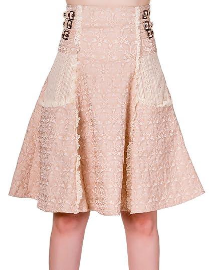 Falda de steampunk, color beige con diseño vintage, compartimento ...