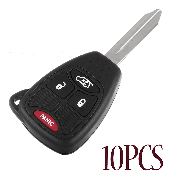 ECCPP 10 x新しい交換キーレスリモートキーシェルケース用クライスラージープキーレスエントリFobコンボ4ボタンm3 N65981772、m3 N5wy72 X X、oht692713aa、oht692714aa B07BB9HDRR