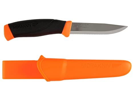 Mora FT10180 Cuchillo a Lama Fissa,Unisex - Adultos, Orange, un tamaño