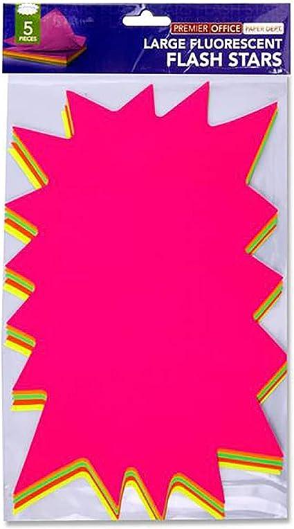 Premier papelería Premier Depot grande Flash Star (Pack de 5 ...