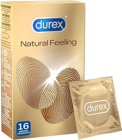 Durex Natural Feeling Preservativos sin látex para una sensación natural de piel a piel, 1 paquete de 16 unidades: Amazon.es: Salud y cuidado personal