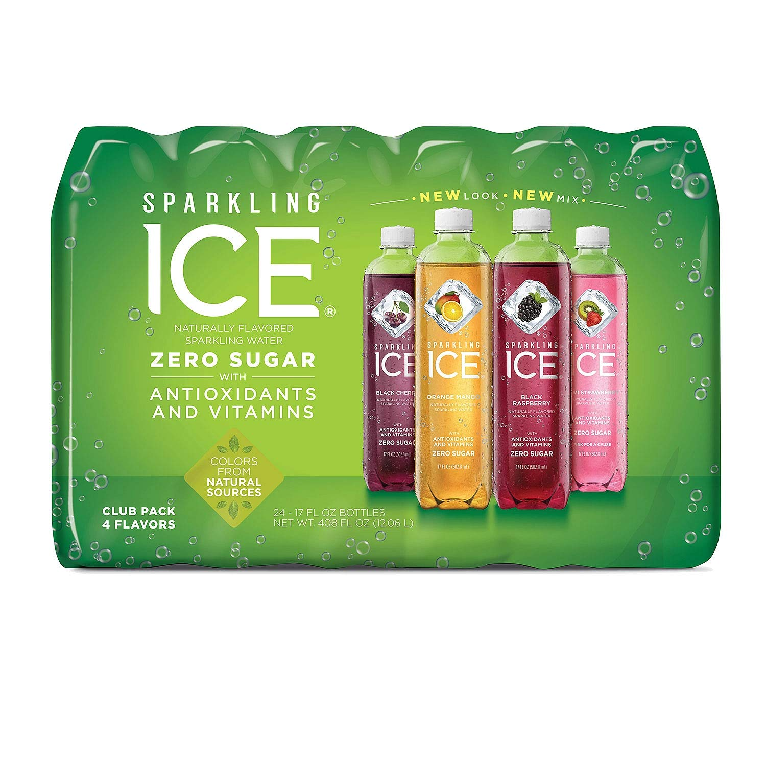 Sparkling Ice Fruit Blasters Variety Pack 17 oz, 24 pk. (pack of 3) A1