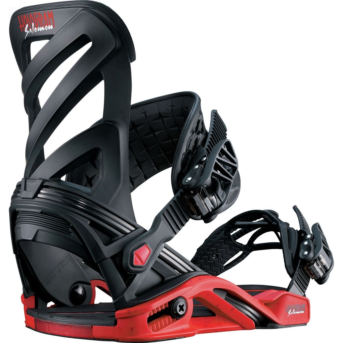 Salomon Snowboards Hologram Snowboard Binding Black/Red, M by Salomon