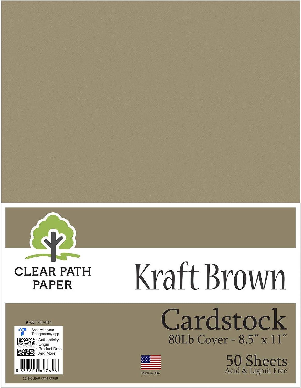 Kraft marrón cartón – 8,5 x 11 pulgadas – 80LB Cover: Amazon.es: Juguetes y juegos