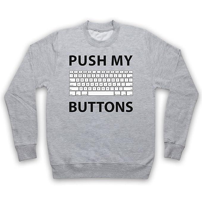 Push My Buttons Computer Geek Adultos Sudadera: Amazon.es: Ropa y accesorios