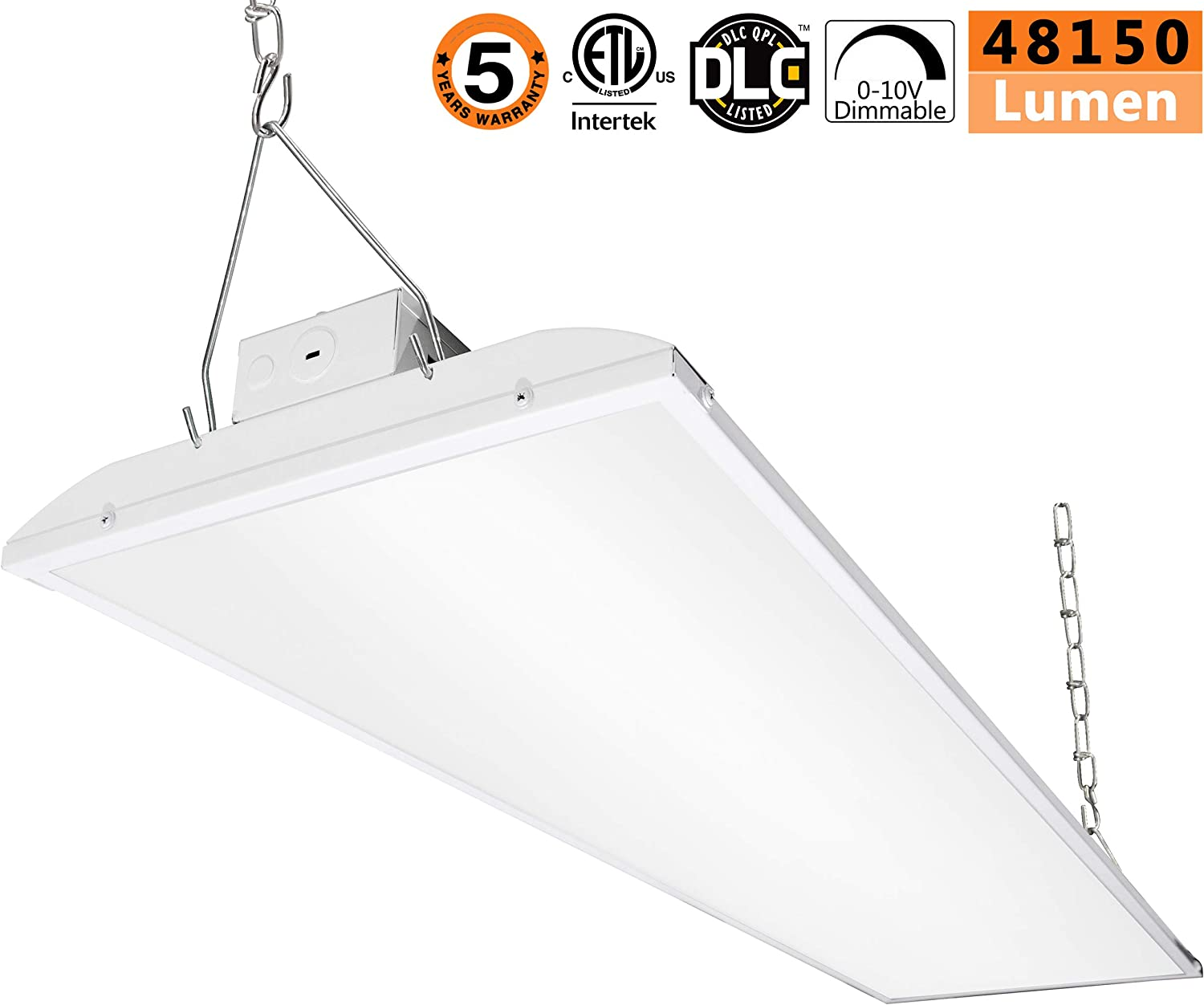 LED High Bay Warehouse Light Bright White 320W Linear Fixture 1200W Equiv Shop