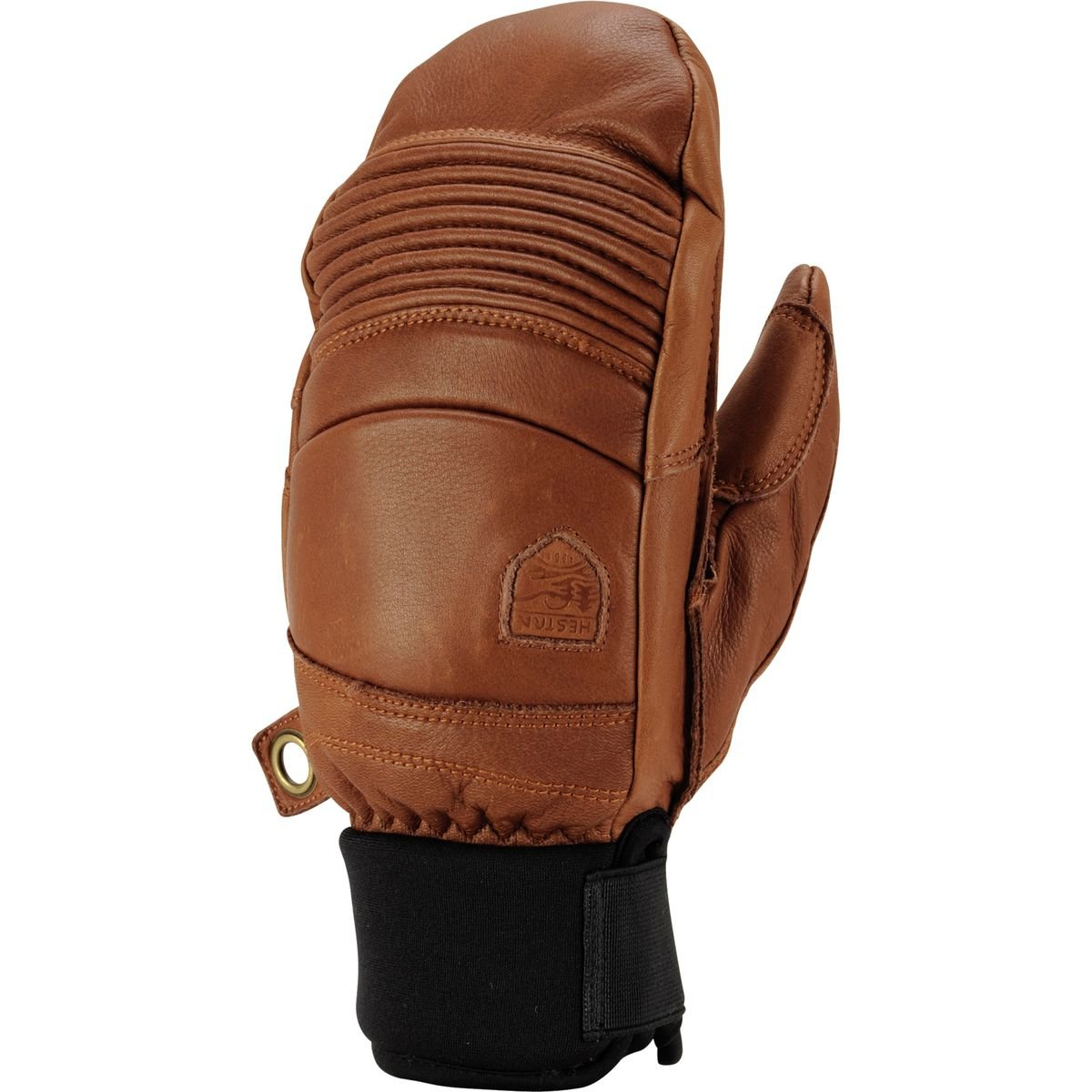 Hestra Leather Fall Line Short Ski Mitten,Brown,8 by Hestra