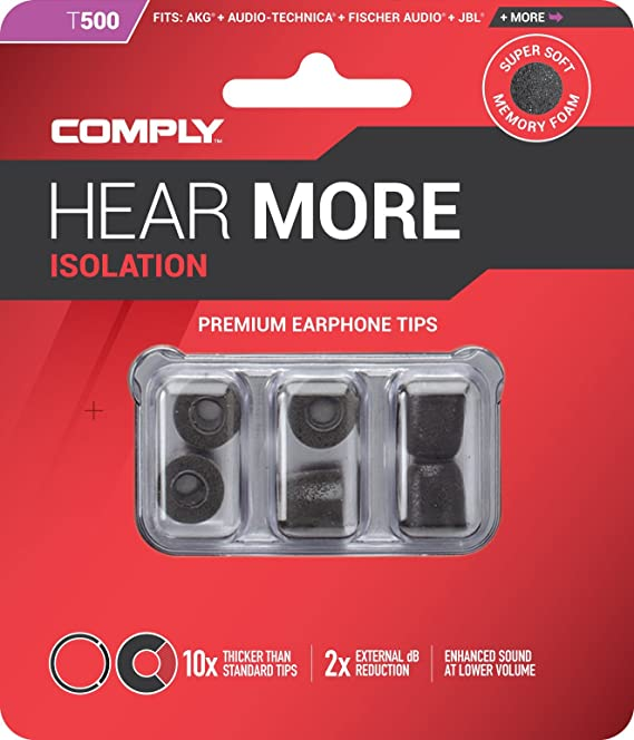Comply T500 - Juego de almohadillas para auriculares internos Ultimate Ears (3 pares, talla S), color gris: Amazon.es: Electrónica