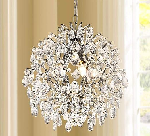 Leaves Cover Lighting Chandelier Glass Crystal Hanging Living Room Light Gold