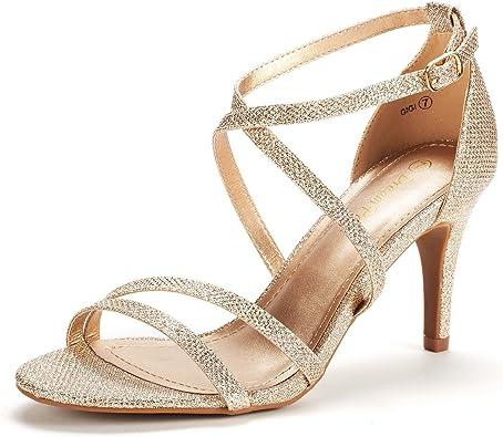 DREAM PAIRS Women's Gigi Fashion Stilettos Open Toe Pump Heel Sandals