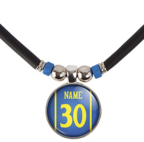 brand new 26d91 28243 SpotlightJewels Golden State Basketball Jersey Necklace Personalized with  Name and Number