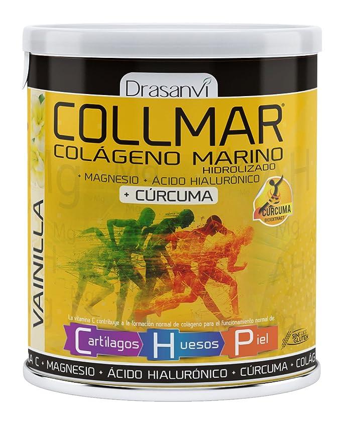 Drasanvi Collmar Colageno Magnesio + Acido Hialuronico + Curcuma 300 gr Vainilla: Amazon.es: Salud y cuidado personal