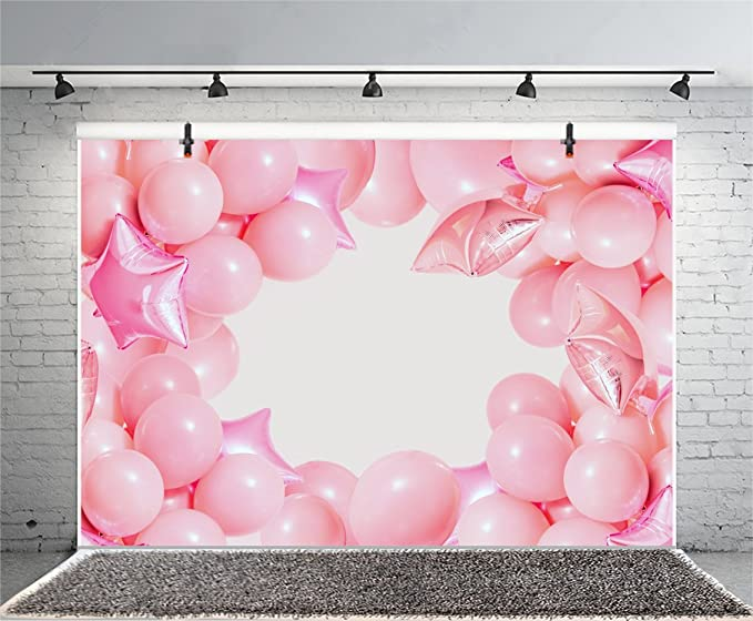Leyiyi 6x6ft Sweet Happy Birthday Backdrop Colorful Balloons Ribbons Purple Background Floating Paper Scraps Photography Studio Fabric Background Photobooth Prop