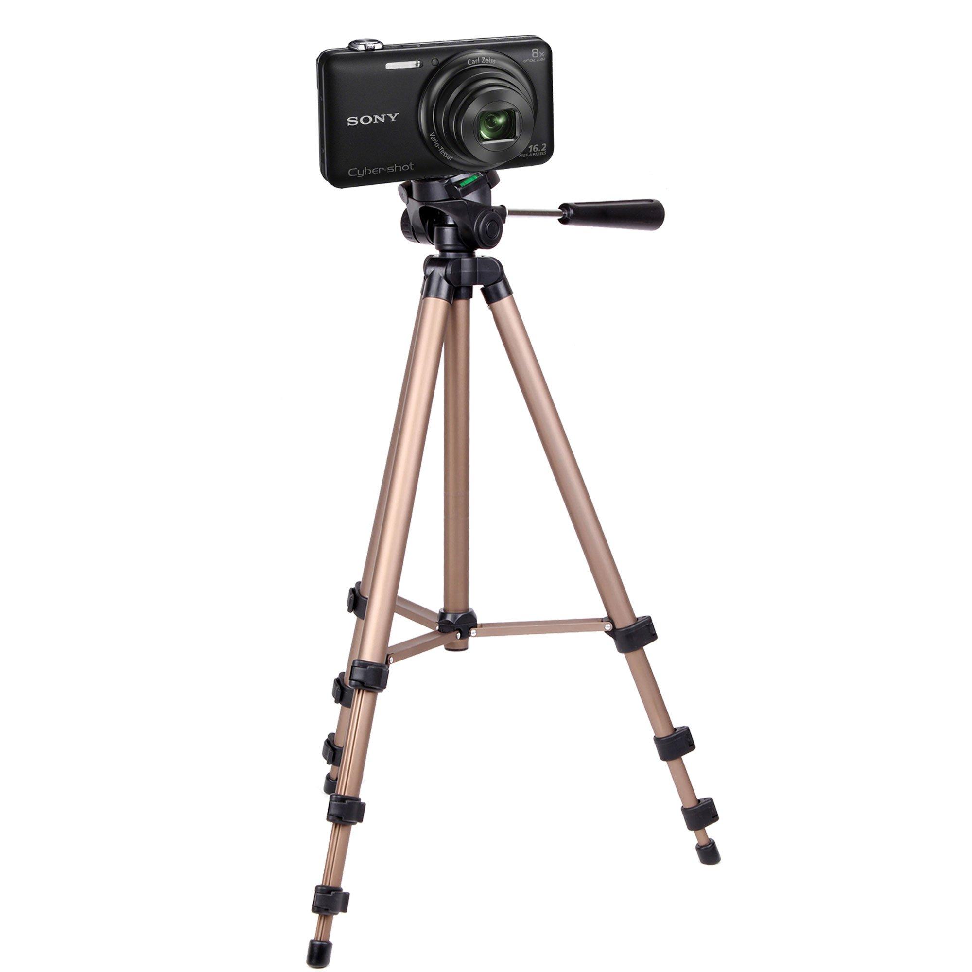 DURAGADGET Professional Lightweight Aluminium Tripod for Sony Cybershot WX200, Cybershot DSC-W730 & Sony H200 Digital Cameras