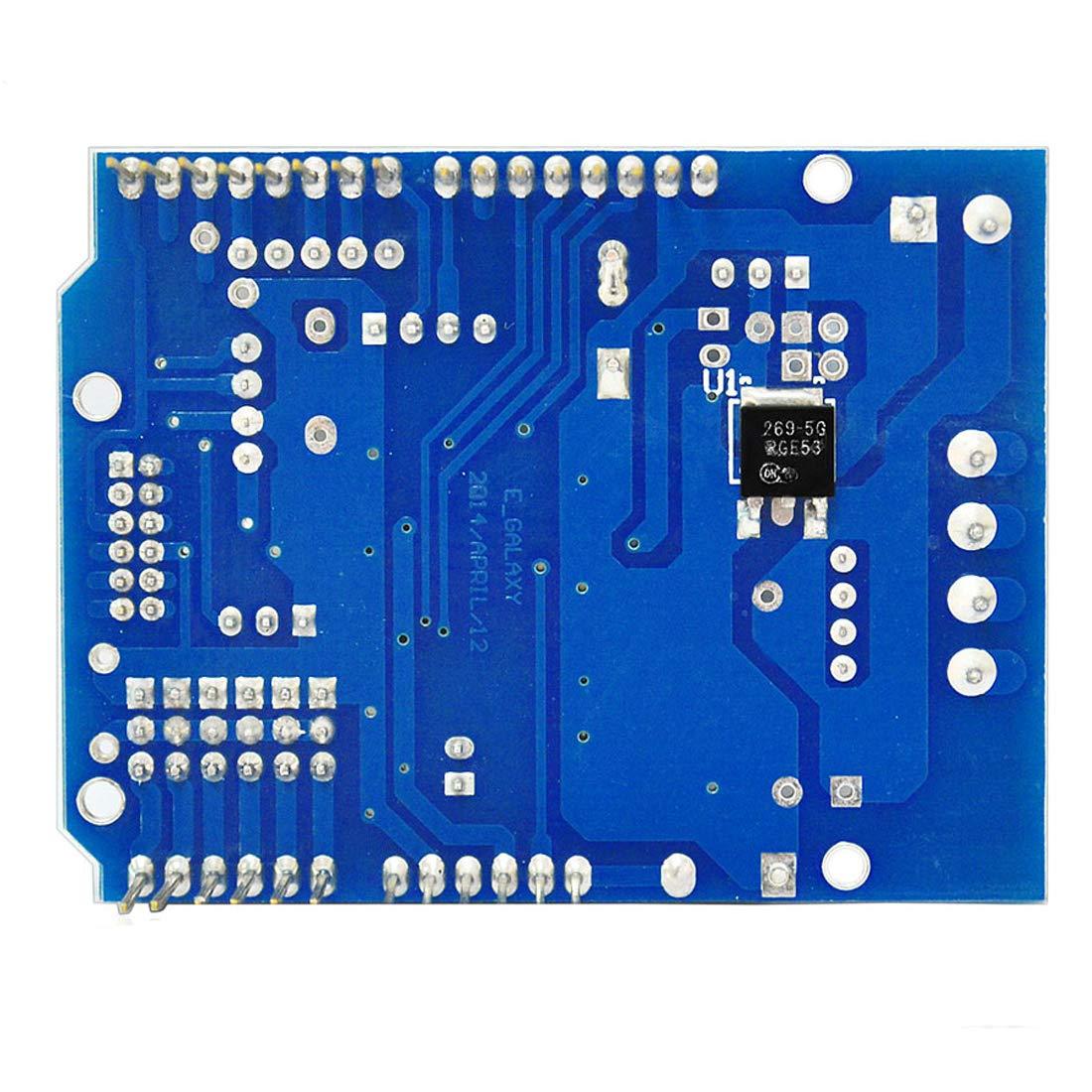 HiLetgo L298P DC Motor Drive Module L298P DC Motor Drive Shield H-Bridge Drive Expansion Board High-Power DC Stepper Motor Controller for Arduino