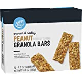 Amazon Brand - Happy Belly Sweet & Salty Peanut Granola Bars, 12 Count