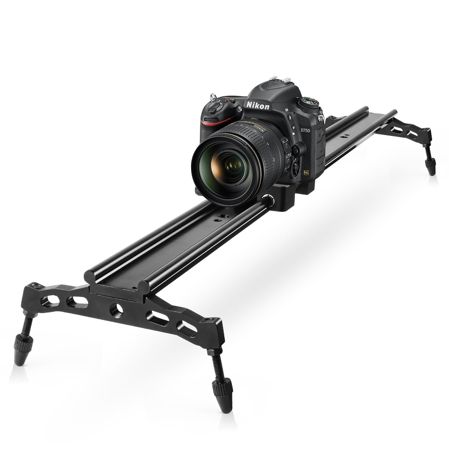 COOCHEER Camera Slider, Aluminum DSLR Dolly Track Rail Perfect for Photography and Video Recording with 1/4'' 3/8'' Screw for YouTube Video and Short filmmakers (80cm Camera Slider)