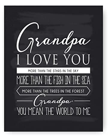 Grandpa Gift, Grandpa Quote Sign Chalkboard Print, Grandpa Quotes - Unique  Gift for Grandpa & Best Grandpa Gift - Beautiful Typography Artwork -