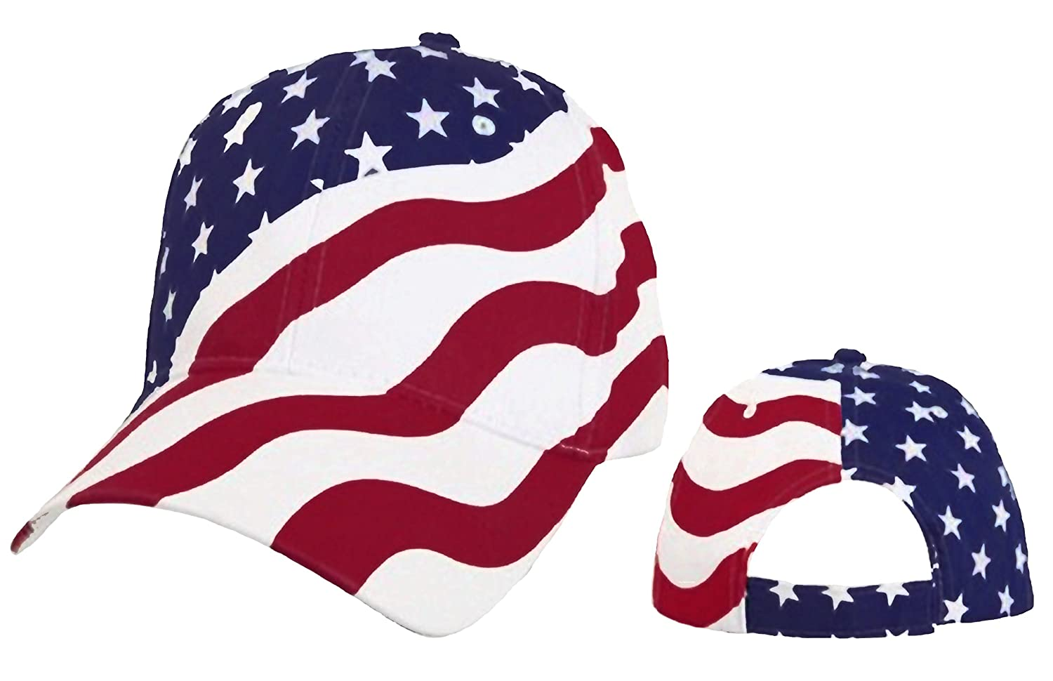 Amazon.com  American Flag Cap Patriotic Hat Red White and Blue Stars and  Stripes  Sports   Outdoors 42a674f9308