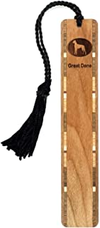 product image for Dog Bookmark - Great Dane Engraved Wooden Bookmark with Tassel