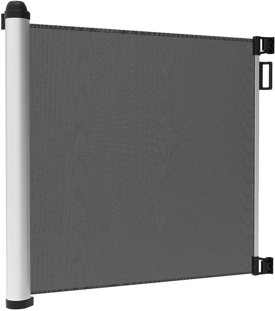 Mecanismo de una Mano Barrera Aeguridad Ni/ños Escalera Extensible//Retr/áctil 0-125 cm Barrera Escalera Bebe Retr/áctil Puerta Enrollable Bebe Leogreen Puertas de Seguridad para Ni/ños y Perros