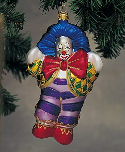 Clown with Red Bow Glass Polonaise Christmas Tree Ornament - Amazon.com: Clown With Red Bow Glass Polonaise Christmas Tree