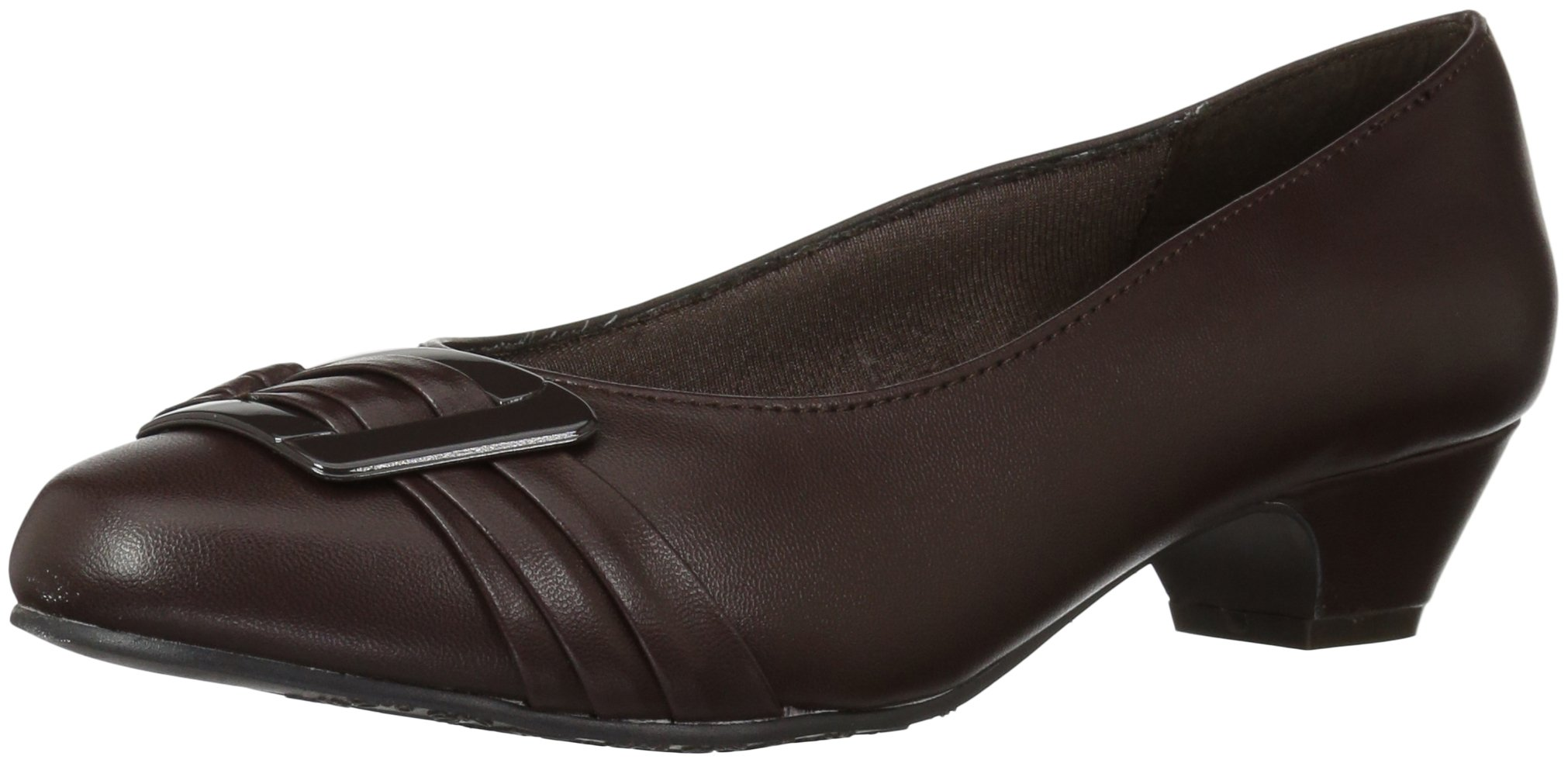 Soft Style by Hush Puppies Women's Pleats Be with You Dress Pump, Dark Brown, 7 N US