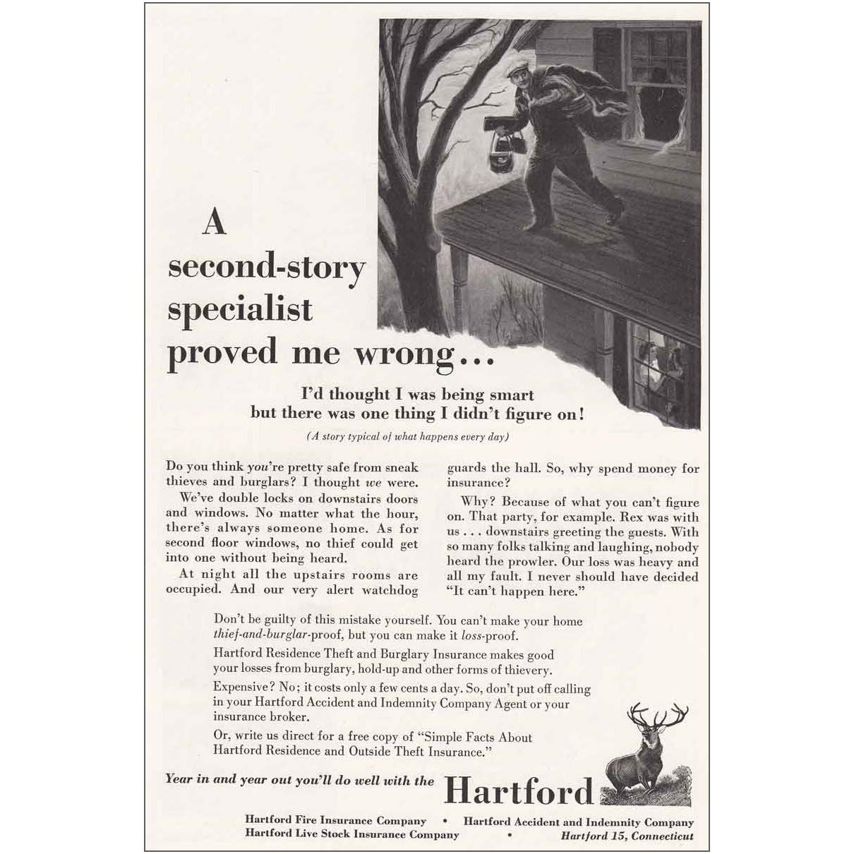 Amazon com: RelicPaper 1953 Hartford Insurance: Second Story