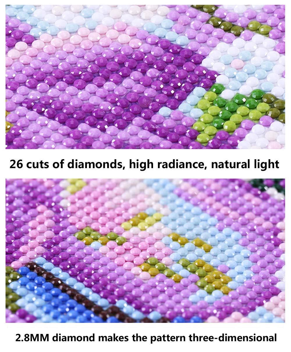 Watyw Diy 5D Diamond Painting Strass Complet Broderie Color/ée De Peinture De Diamant De Fausse Pierre Ronde De Voiture De Course 3D sans cadre 30x40cm