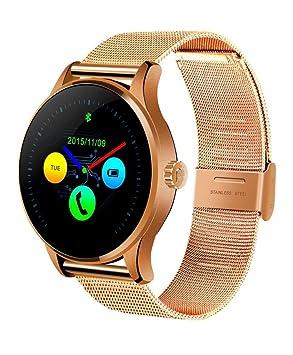 Ouneed For K88H MTK2502C Reloj Inteligente K88H MTK2502C Bluetooth del Ritmo cardíaco Pista Reloj de Pulsera de Cuero (Oro Rosa): Amazon.es: Deportes y aire ...
