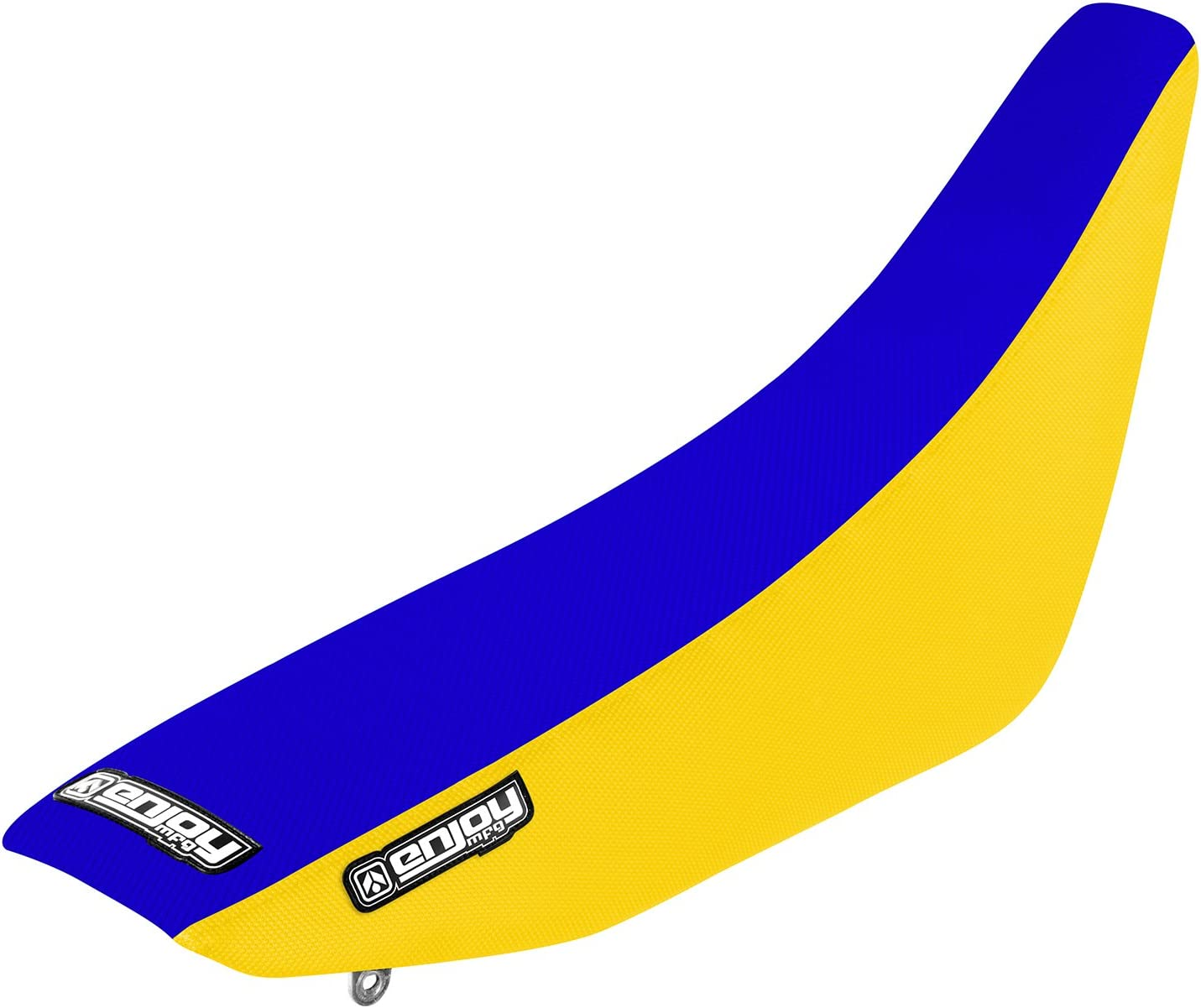 Blue Top Full Gripper Seat Cover Enjoy MFG 2002-2012 Suzuki RM 85 Yellow Sides