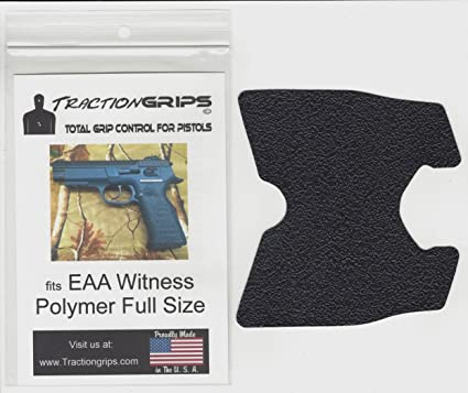 Tractiongrips grip overlay decal for EAA Witness Polymer Full Size pistols
