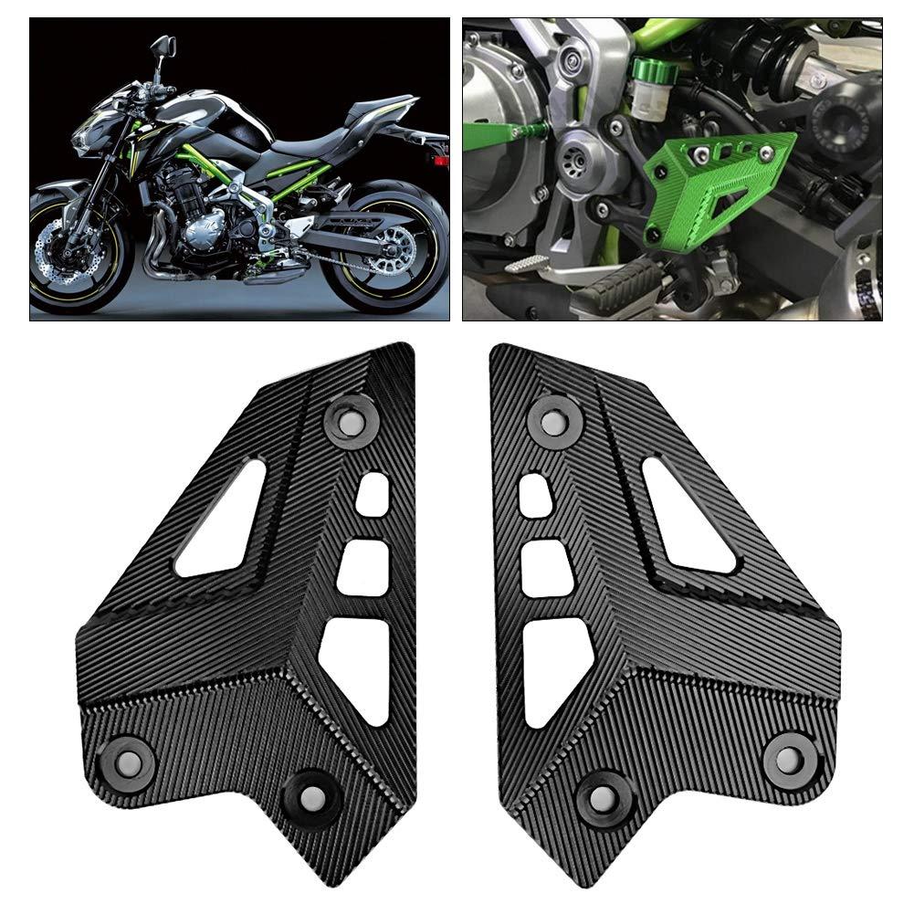 Noir Alinory Super Cool Repose-Pieds Pieds Pieds Talons Plaques Protecteur Garde Couverture Convient /à Votre Moto Aim/ée