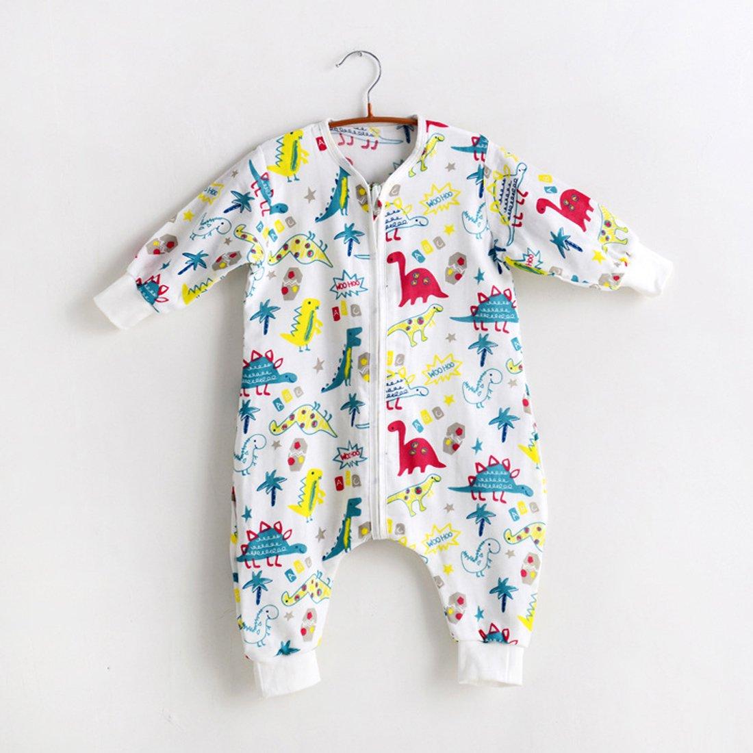 Baby Cotton Sleep Bag with Feet Walker Sleep Bag Or Sack, Also as Anti-Kicking Sleeping Bag,(M Dinosaur,0-12 Months)