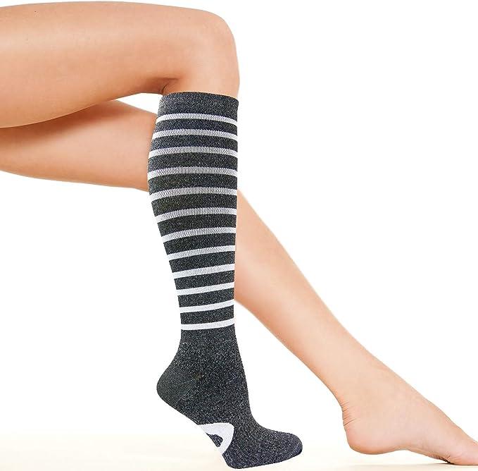 1Pair Compression Knee High Socks Womens Medical Graduated 15–20 mmHg Stockings