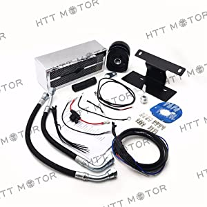 SMT MOTO- Motorcycle Oil Cooler Fan Cooling System For Harley Touring 2009-2016 Chrome