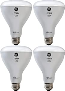GE Lighting 43073 Relax HD LED (65-Watt Replacement), 700-Lumen BR30 Bulb, Medium Base, Soft White, 4-Pack, Title 20 Compliant