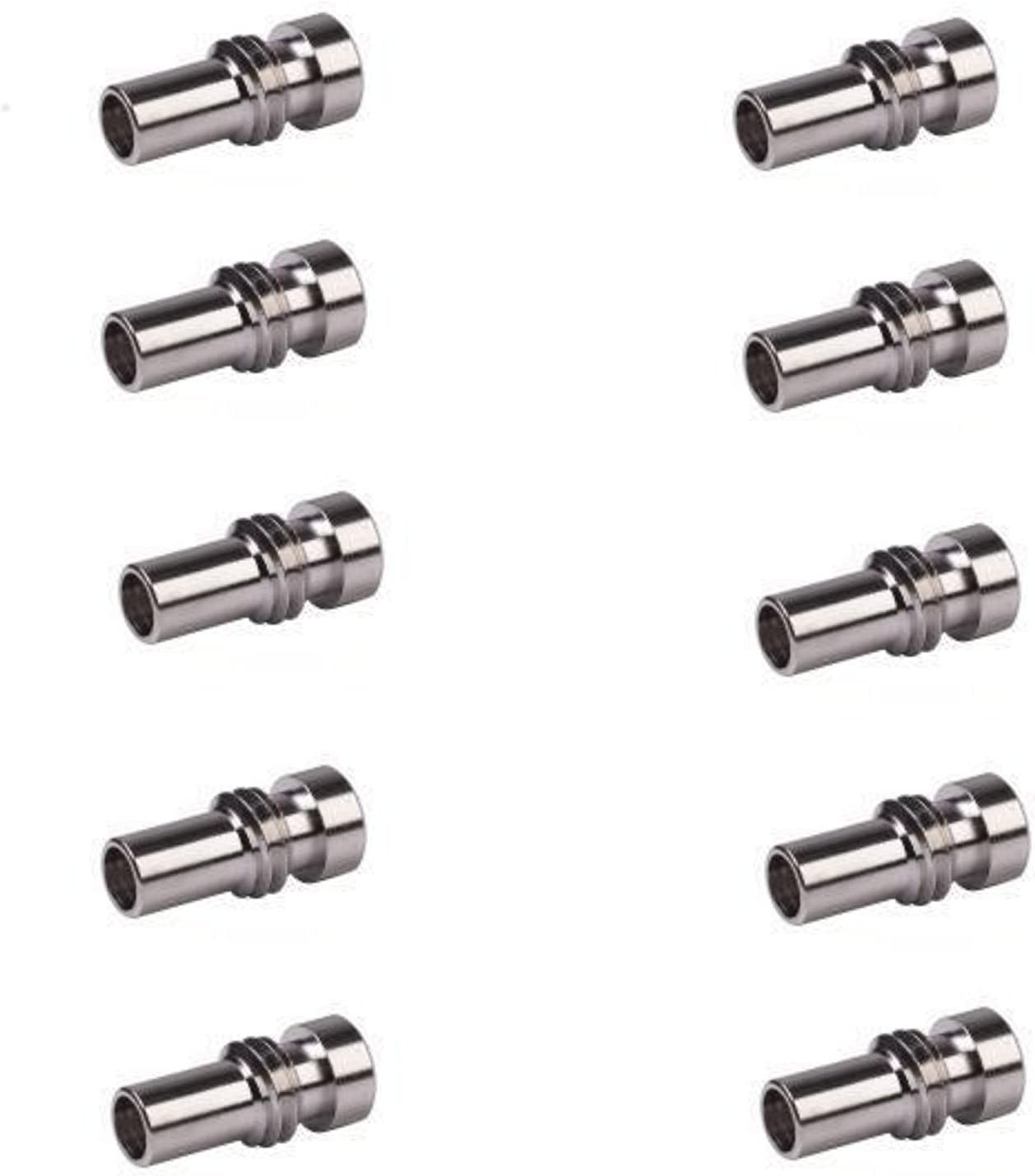 Pro Trucker Platinum Series PL-259 UG-176 Reducer for RG-8X Mini-8 RG-59 Coax Cable 10 Pack
