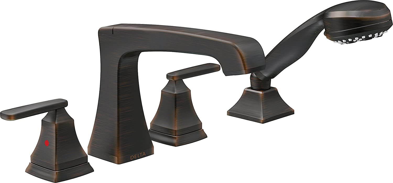 Delta Faucet T4764-RB Ashlyn, Roman Tub Trim, Venetian Bronze ...