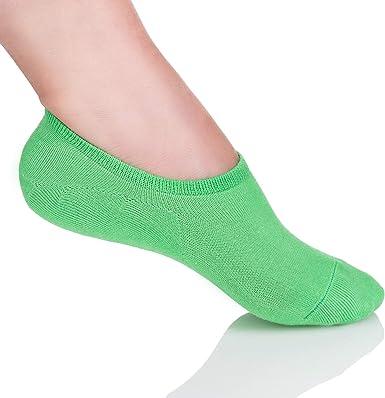 FUTURO FASHION FS73023 - Calcetines invisibles de neón para mujer ...
