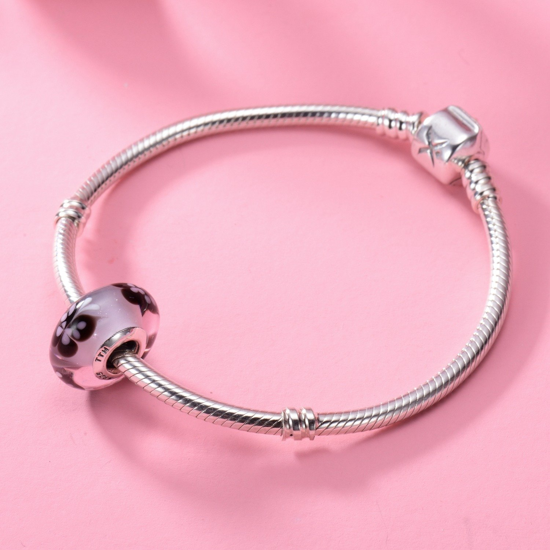 CHANGEABLE Charms et Perles en Verre de Murano pour Femme Argent 925