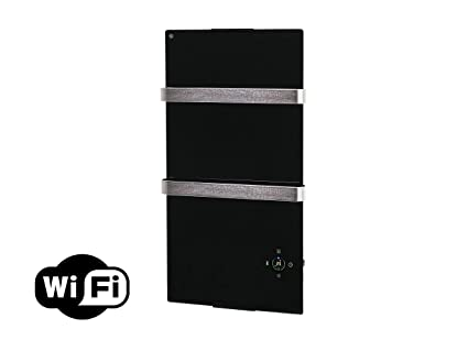Purline ZAFIR V600T B - Radiador Toallero Eléctrico de Cristal Templado y Control por App WIFI