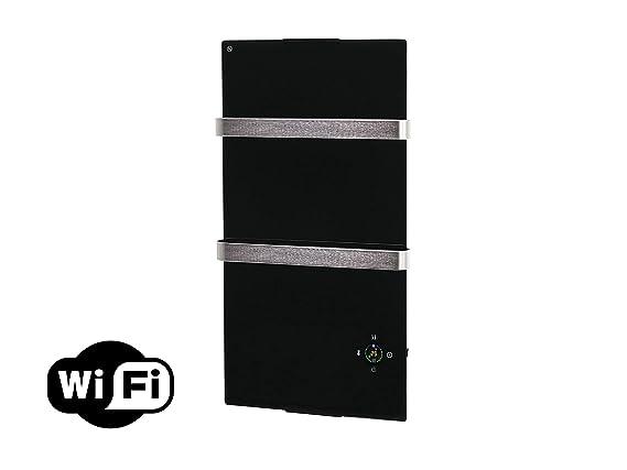 Purline ZAFIR V600T B - Radiador Toallero Eléctrico de Cristal Templado y Control por App WIFI, Negro: Amazon.es: Hogar