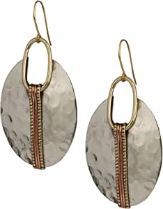 Boho Oval or Round Ethnic Hammered Earring for Women