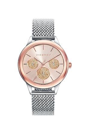 Viceroy Reloj Multiesfera para Mujer de Cuarzo con Correa en Acero Inoxidable 401036-97: Amazon.es: Relojes