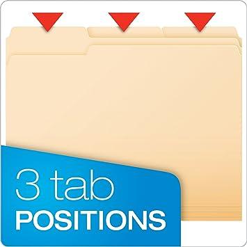 Amazon.com : Pendaflex Essentials File Folders, Letter Size, 1/3 ...