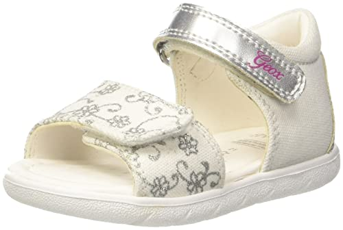 newest collection wholesale outlet cheap prices Geox Baby Mädchen ALUL Girl B Sandalen, Weiß (White/Silver ...