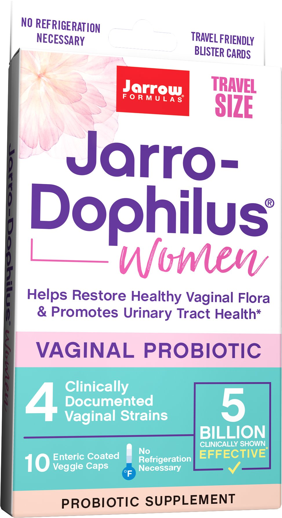 Jarrow Formulas Jarro-dophilus Women Travel Size 5 Billion Cells Per Capsule, 10 Count