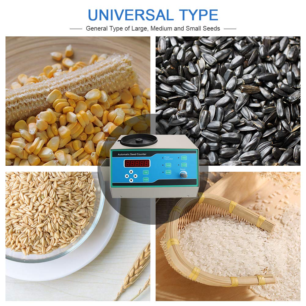 Automatic Seeds Counter Machine, HomEnjoy 110V Sly-C Seed Counter Machine with LED Display for Various Shapes Seeds as Millet, Rice, Wheat, Corn, Soybean, Sunflower Rapeseed, Flowers, Tobacco by HomEnjoy (Image #8)
